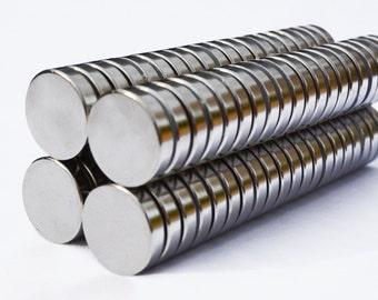 "1"" X 1/4"" MAGNETS cylinder / disk 10/25/50/100 RARE EARTH N35 Neodymium (C8)"