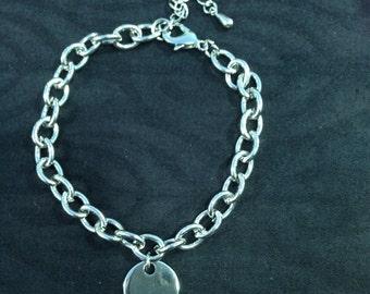 Oval Mesh Bracelet with customizable pendant