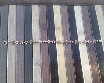 Handmade Silver Star bracelet
