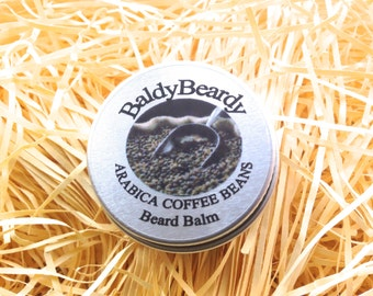 Arabica Coffee Beans beard balm. A creamy beard taming and hydrating balm with real coffee aroma. Best men's beard grooming products UK