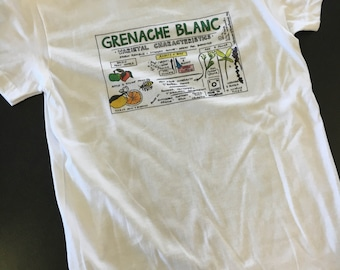 Women's Grenache Blanc Characteristics T-shirt on soft all cotton
