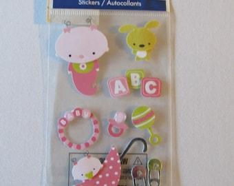 Baby Girl Scrapbooking Stickers