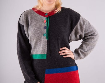 Vintage Long sweaters in block design - Erna comes!