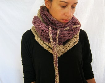 FREE SHIPPING#Handmade crochet infinity scarf#shawl#cowl