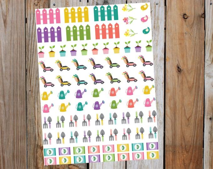 Planner Gardening Stickers, for Erin Condren, LimeLife, Inkwell, Plum Paper, Happy Planner, Filofax, Agenda & Scrapbooking