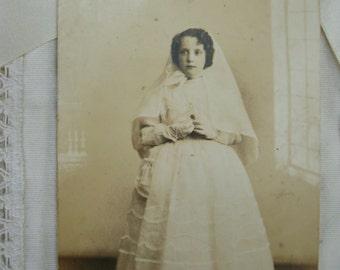 Vintage Communion photography.Religious photo.Vintage ceremony.Collectible.Ephemera.1940s.Communion dress.Vintage Catholic.Silva photo.