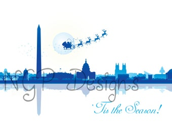 Washington DC 5x7 Holiday Cards
