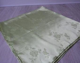 Vintage decorative lime green scarf (01441)