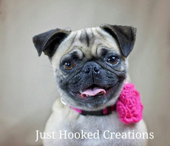 Pink Dog Collar Flower, Crochet Dog Collar, Pink Crochet Flower, Pink Pet Accessory, Pink Dog Accessories, Pink Collar Flower For Dog