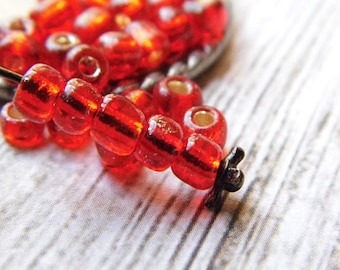 Ruby Red, Seed Beads, Czech Beads