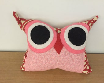 Red Plush Owl Pillow