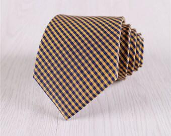 yellow plaid ties.wheat neck ties.grid neckties for wedding.business necktie for businessmen.fashion suit neckties.gift necktie+nt.415s