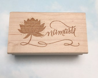 Namaste Stamp - yoga rubber stamp