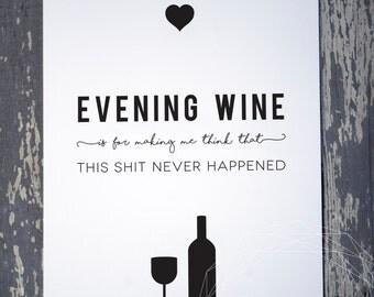 Evening Wine Print