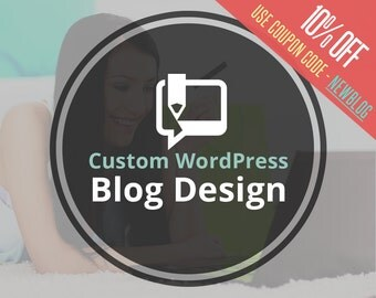 Custom Blog Design | One Custom WordPress Theme Blog Design Just for YOU