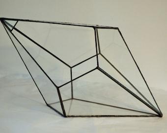 Diamond teardrop terrarium, glass terrarium, wedding decor, geometric terrarium, urban garden planter, minimalist home decor,