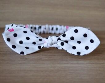 Top Knot Polka Dot Headband
