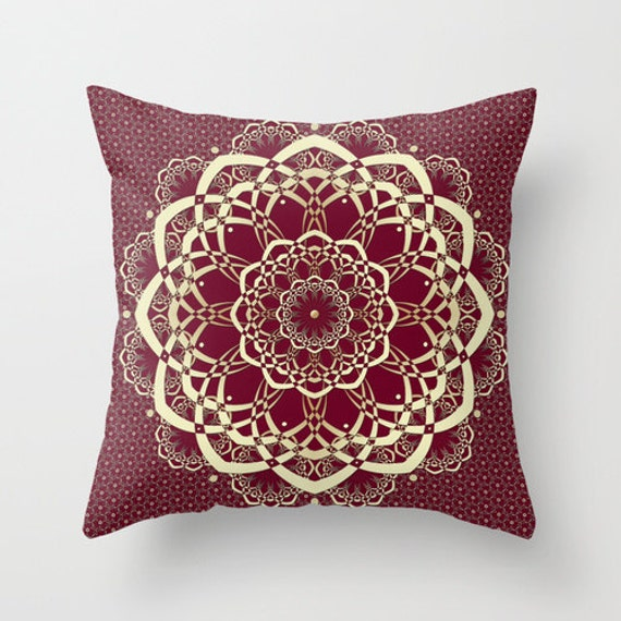 Burgundy Colored Throw Pillows : Burgundy Pillows Decorative Pillows Cranberry by DesignbyJuliaBars