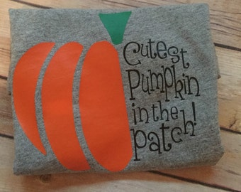 Boy Girl Halloween Shirt | Cutest pumpkin in the patch shirt | Kids Fall Halloween Shirt | Pumpkin shirt | Pumpkin patch | Toddler shirt