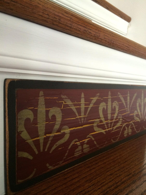 Rustic home decor scroll stencil country home decor Rustic country home decor