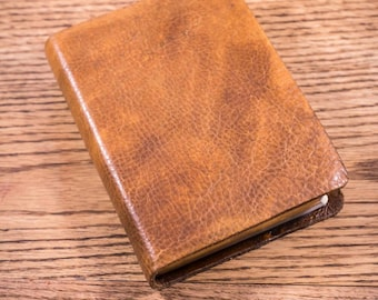 Full Grain Cowhide Leather Bible, ESV Large Print Compact
