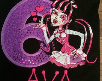 Monster High Draculaura  birthday shirt