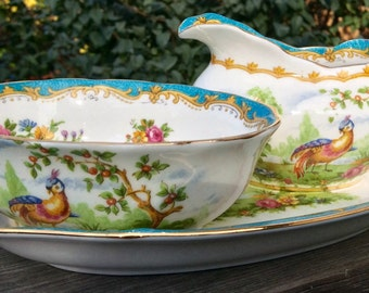 Beautiful Royal Albert Chelsea Bird Trio Reg. No. 839184