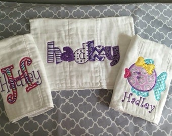 Burp cloth gift set