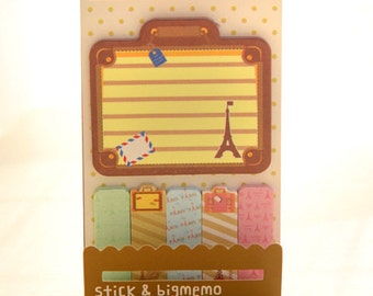 Sticky Memo / Sticky Notes / Post-it - Eiffel (brown), for scrapbooking, note-taking, planner etc