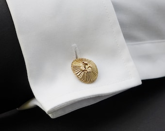 Plankton Coccolithus - Coccolithophore Cufflinks -  Marine Biology - Science Jewelry in bronze, brass & silver