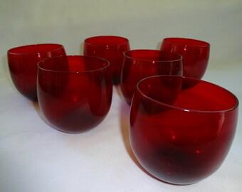 Red Ruby Amberina Glasses 6