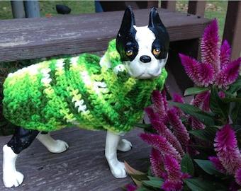 Wee Dog Sweater, dog sweater, dog sweaters, green dog sweater, small dog sweater, small dog sweaters, large dog sweaters, chihuahua sweater