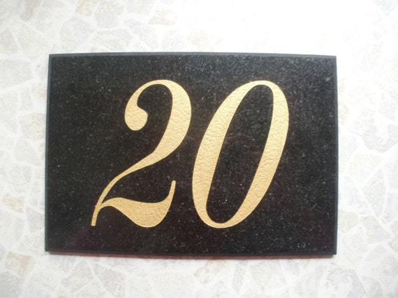 Granite Address Plaque Modern House Number Stone House Sign
