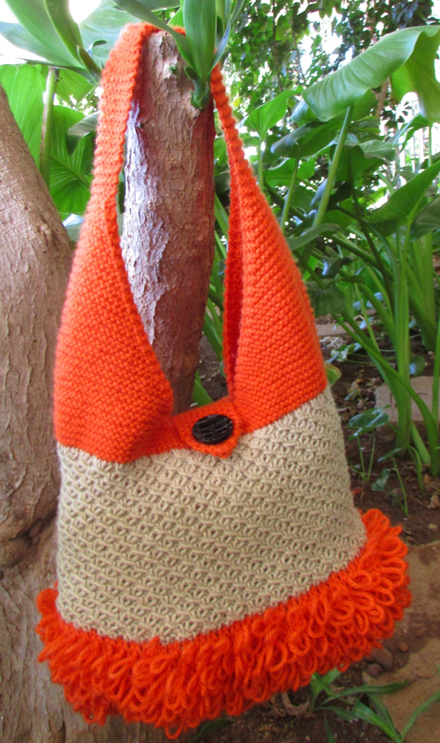 Bag Knitting Pattern Rockey Hand Bag Pattern PDF Tote Bag