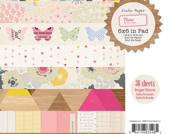 """SALE! Notes & Things - Paper Pad 6""""X6"""" 36/Pkg"""
