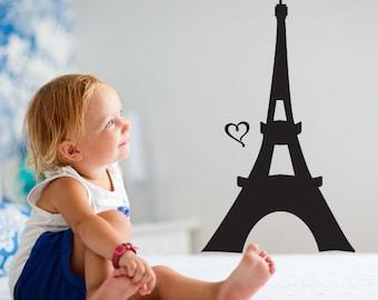 Paris France  Eiffel tower Wall Decal  - Vinyl Decal Paris PLS18