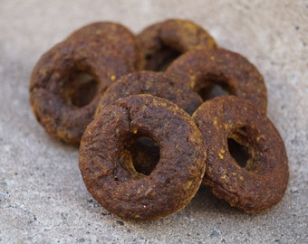 Healthy Plain Dog Donut Treats - Organic and Vegan Dog Treats - All Natural and Gluten Free Dog Treats - Sugar Free Treats - Gourmet Treats