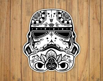 Sugar Skull Star Wars Storm Trooper Decal/Sticker