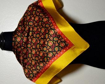 Vintage floral Echo silk scarf