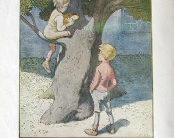 Vintage print children's song book Denmark 1920s