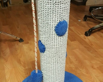 Cat scratch post.24 inch tall.Handmade