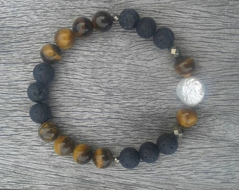 "Bracelet ""the Pearl and the Tiger eye"""