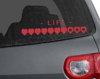 Life Heart Meter Car Decal (1227-CAR)