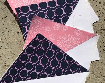 Navy and Pink - Guestbook Quilt - DEPOSIT