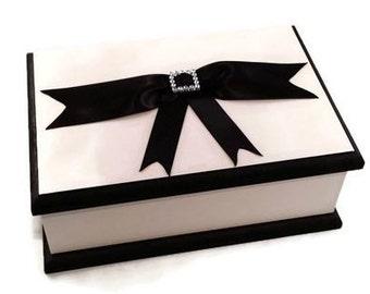 Classic White & Black Keepsake Box