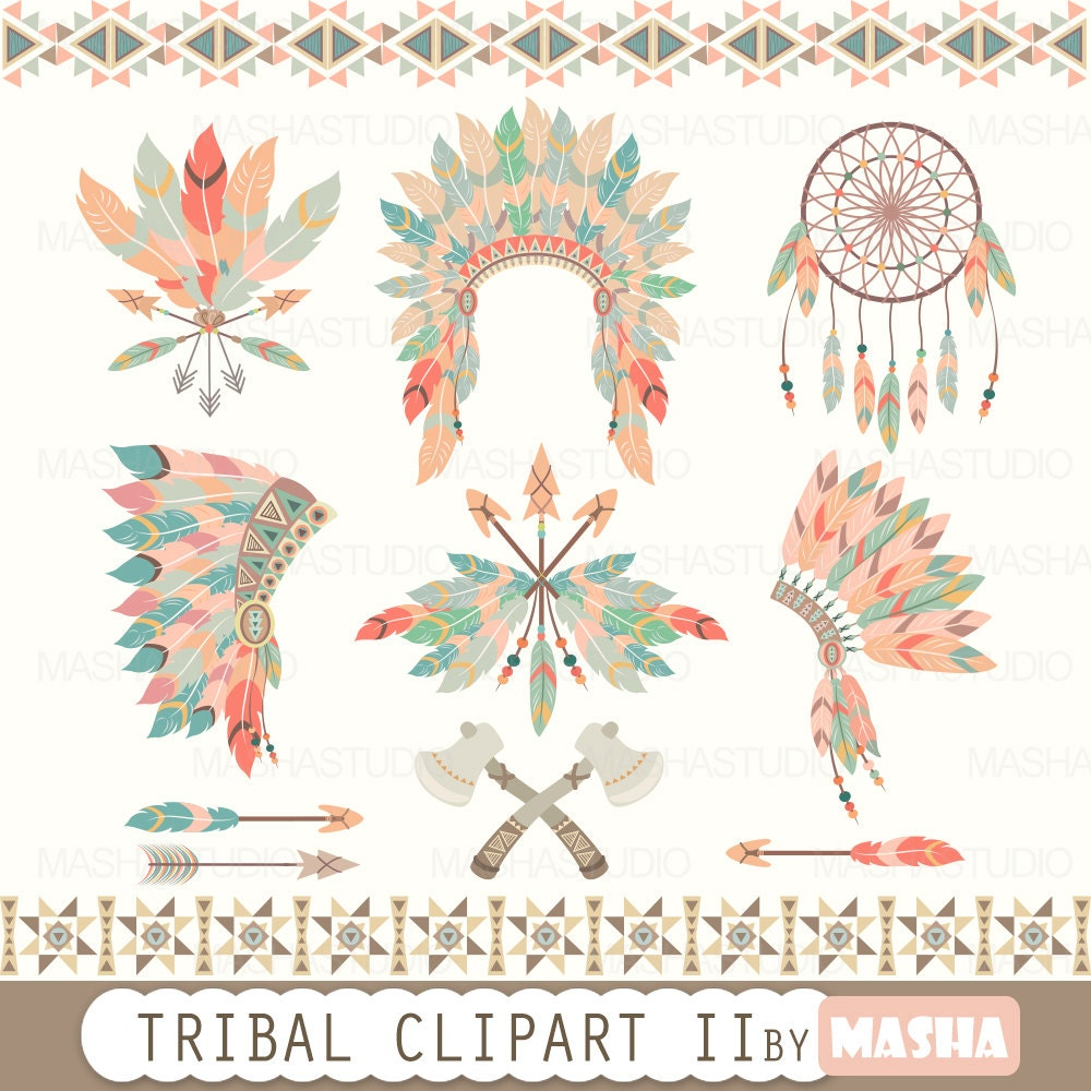 Clip Art Tribal Clip Art floral tribal clipart tent by mashastudio ii with feather headdress clip art dream catcher 12 images 300 d