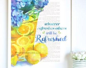 Bible Verse Print, Lemons