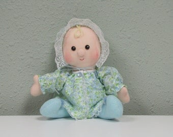 Soft Baby Doll, cloth baby doll, Carolee, handmade soft fabric baby for play