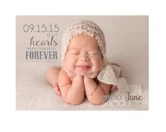 Birth Announcement, Baby Announcement, Custom Photo Birth Announcement, Printable Digital Invitation,  Boy or Girl Birth Announcement