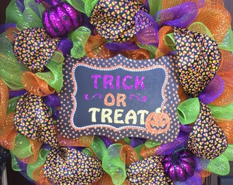 Trick or Treat Wreath!